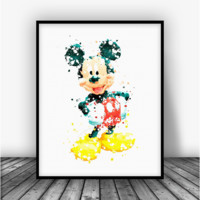 Mickey Mouse 2 Art Print Poster