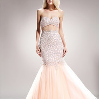 Runway Pageant Mermaid trumpet Champagne evening gown Long Prom Dress up to 3XL