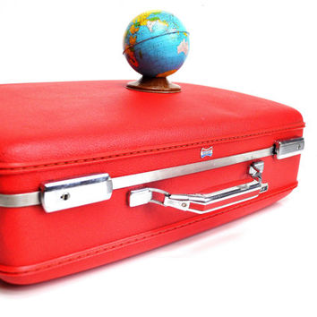 Bright Red American Tourister Tiara Suitcase