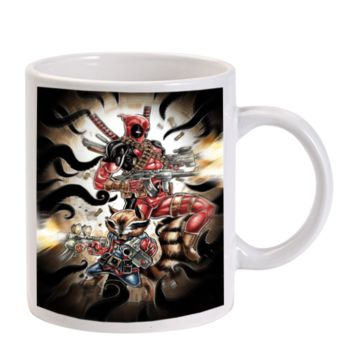 Gift Mugs | Deadpool And Rocket Raccoon Ceramic Coffee Mugs