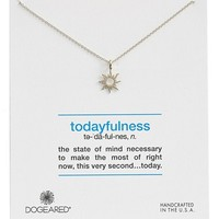 Women's Dogeared 'Definitions Defined - Todayfulness' Sunburst Pendant Necklace