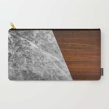 Wooden Marble Carry-All Pouch by Nicklas Gustafsson | Society6