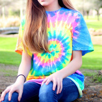 Unicorn Rainbow Tie Dye T-Shirt