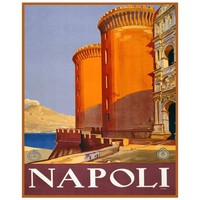 Digitally Restored 8x10 Vintage Art Print of Napoli Italy