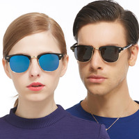 2016 Fashion Polarized Sunglasses Women Men Brand Designer Sun Glasses For Ladies Clubmaster UV400 Female Male Oculos RS137