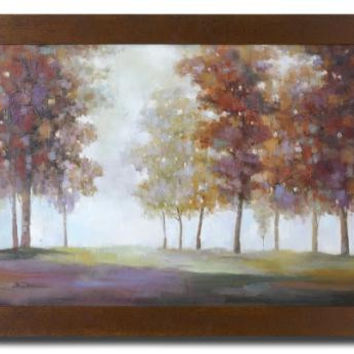 Framed Wall Art - Tree Themed Painting On Stretched Canvas