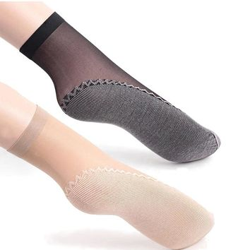 Women Velvet Socks Fashion Hot Sale High Quality Female Socks Summer Thin Silk Transparent Ankle Sox Women's Socks W0001