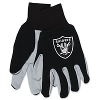 Oakland Raiders Two Tone Youth Size Gloves