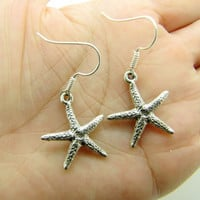 silvery  starfish earrings,charming earrings,cute earrings EH38