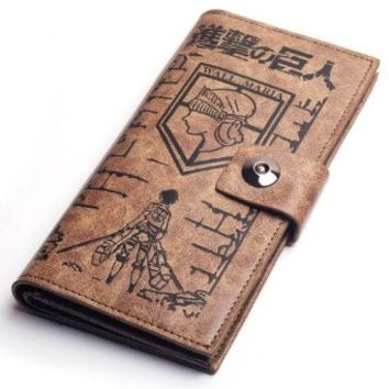 Attack on Titan Japanese Anime Cosplay Eren Mikasa Levi Wallet Scouting Legion Badge Wallet Purse Cosplay Prop Coslive