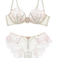 Eyelash Lace Transparent Lingerie Bralette 11467