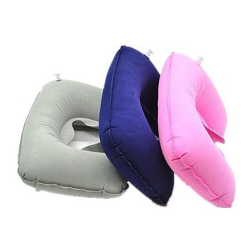 New Rest Neck Pillow Travel Support Cushion Hot Soft Head & Neck Flight Inflatable
