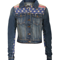 Leona Americana Panel Denim Jacket