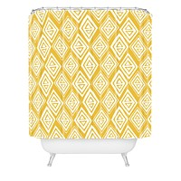 Heather Dutton Diamond In The Rough Gold Shower Curtain