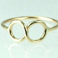 Infinity Symbol Ring 14K SOLID GOLD by ExCognito on Zibbet