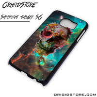 Galaxy Nebula Floral Skull Flower Case For Samsung Galaxy S6 Case