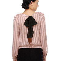 Cute Mauve Pink Top - Sheer Top - Long Sleeve Top - $36.00