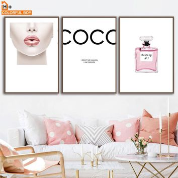 COLORFULBOY Paris Perfume Girl Wall Art Prints Minimalist Nordic Posters Canvas Painting Salon Wall Pictures For Living Room