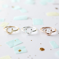 get lucky ring | horseshoe ring | lucky ring | dainty ring | delicate ring | minimalistic ring | silver ring | rose gold ring | gold ring