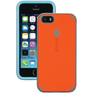 SPECK 71179-C103 iPhone(R) 5/5s MightyShell(TM) Case (Carrot Orange/Speck Blue/Slate Gray)