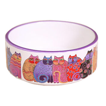 Cat Feeding Supplies Bowls/Health Ceramic Cat Raised Food Bowls(13*5.5CM)