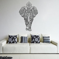 kik239 Wall Decal Sticker Indian elephant painted indium Hinduism living room bedroom