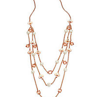 Tory Burch - Babylon Triple-Strand Charm Necklace - Saks Fifth Avenue Mobile
