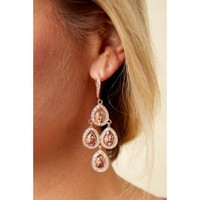 Strike My Fancy Rose Gold Statement Earrings