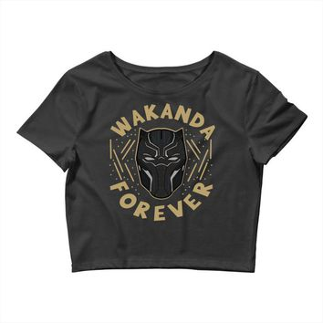 wakanda forever Crop Top
