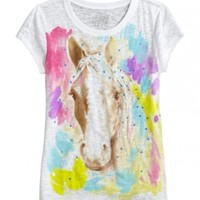 Watercolor Horse Graphic Tee | Girls Graphic Tees Clothes | Shop Justice