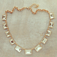 GOLDEN SUN CRYSTAL NECKLACE