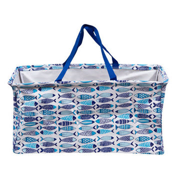 Two's Co Fish Collapsible Tote Bag