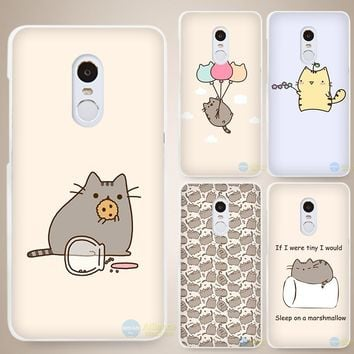Pusheen The Cat Hard White Cell Phone Case Cover for Xiaomi Mi Redmi Note 4 Pro 4A 4C 4X 5X 5 6