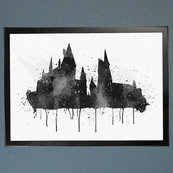 Harry Potter Hogwarts Watercolor Fine Art Print Wall Poster Home Decor Painting Giclee Illustration No 040