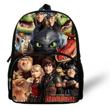 12-inch Mochila Menino Kids Backpack How to Train Your Dragon Children School Bags Boys Cartoon Character Book Bag Age 1-6