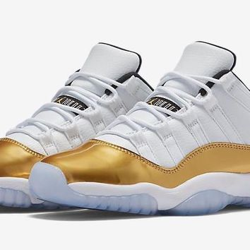 AIR JORDAN 11 LOW (OLYMPICS / GOLD)