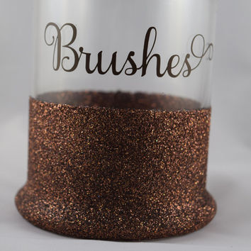 Makeup Brush Holder, Brush Holder, Makeup Holder, Cosmetics, Makeup Organization, Makeup Storage, Makeup Brushes Holder, Brushes, Glitter
