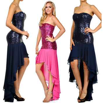 The Brianna Prom Formal Sequin Bead Embellished Dress Gown