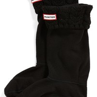 Women's Hunter Tall Cable Knit Cuff Welly Socks