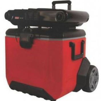 "55 Quart Rugged Wheeled Cooler with 8"" Oversized Wheels Holds 84 Cans"