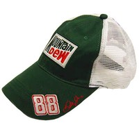 Dale Earnhardt Jr #88 Mt Dew and amp on a new Green and White Mesh ball cap w/ta