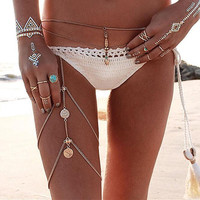 Fashion Retro Tassel Legs Chain
