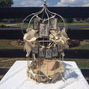 Personalized wedding birdcage card holder FREE SHIPPING