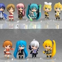 New Vocaloid HATSUNE MIKU Family Figures Rin Len 10 pcs