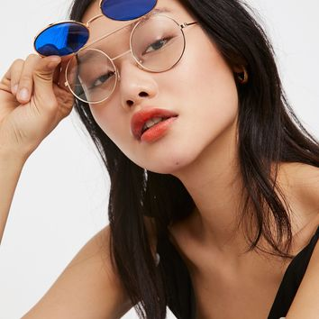 Free People Double Take Flip-Up Aviator
