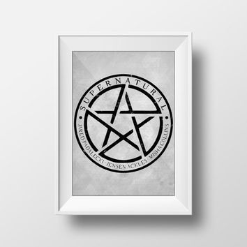 Supernatural Poster, Anti-Possession Print, Minimalist, Movie Poster, TV Series