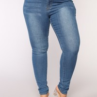 Let's Get Carried Away Jeans - Dark Denim