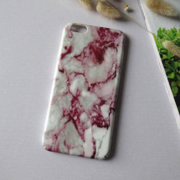 Personality of red marble mobile phone case for iphone 6 6s 6 plus 6s plus + Nice gift box 71501