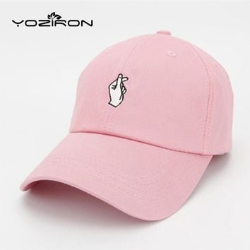 Fashion Cotton Hand ROSE OK Love Gestures Finger Snapback Hats Baseball Caps For Men W