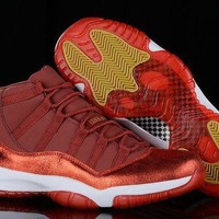 DCCKL8A Jacklish Womens Girls Size Air Jordan 11 Retro Velvet Heiress Hot Sale